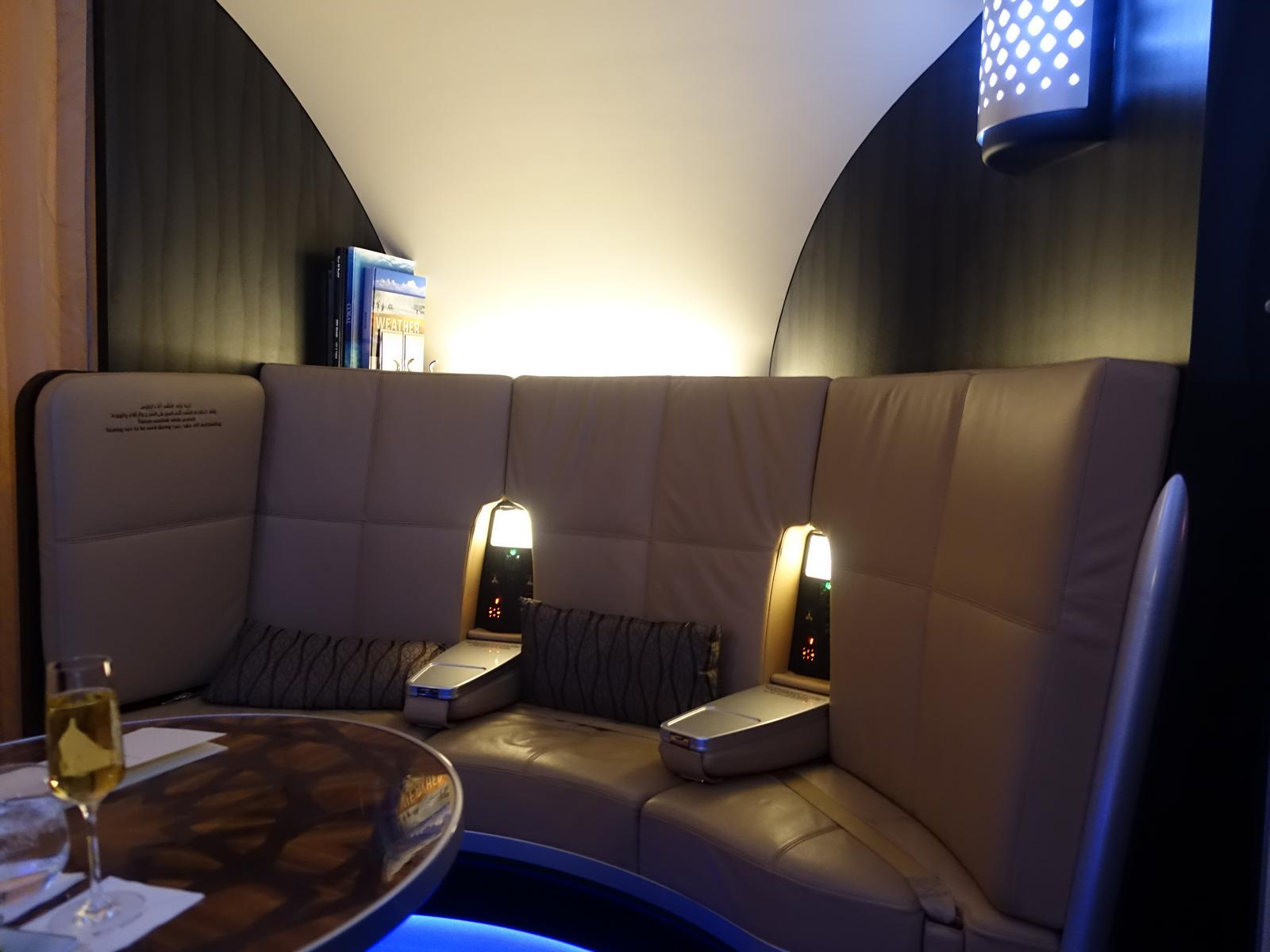 The Onboard Lounge Is A Place Where Restless Business And First Class Passengers Can Go To Socialize Unlike In Qatar Emirates There No Bar